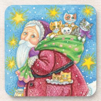 Navidad del dibujo animado, Papá Noel con los Posavaso