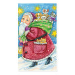 Navidad del dibujo animado, Papá Noel con los Tarjeta De Visita