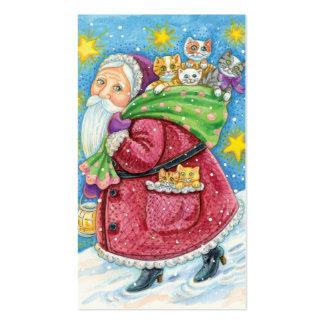 Navidad del dibujo animado, Papá Noel con los Tarjetas De Visita