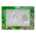 Navidad del diseño del pino (marco de la foto) felicitación