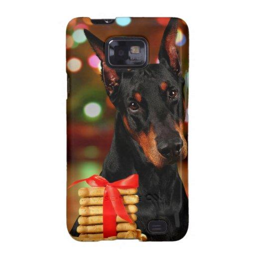 Navidad del Doberman Samsung Galaxy SII Fundas