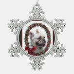 Navidad del dogo francés adornos