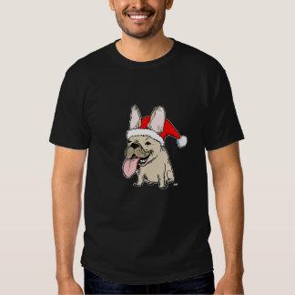 Navidad del dogo francés poleras
