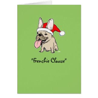 Navidad del dogo francés felicitaciones