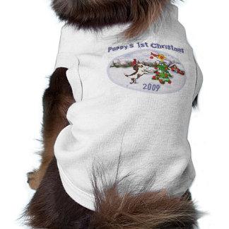 Navidad del duende de Santa divertido Camisetas De Perro