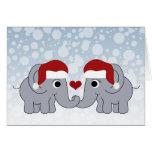 Navidad del elefante felicitacion