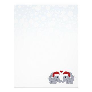Navidad del elefante plantillas de membrete