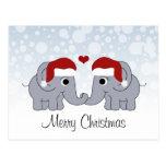 Navidad del elefante tarjeta postal