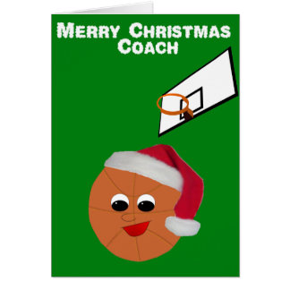 Navidad del entrenador de béisbol tarjeta de felicitación