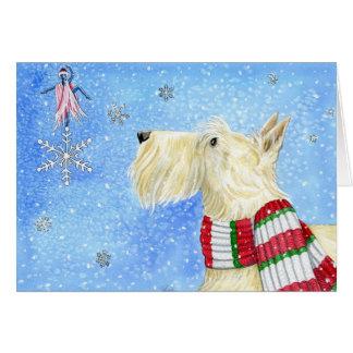 Navidad del escocés mágico tarjeta de felicitación