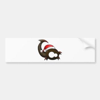 Navidad del escorpión etiqueta de parachoque