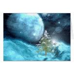 Navidad del espacio exterior felicitación