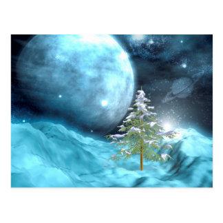 Navidad del espacio exterior postales