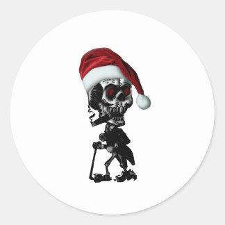 Navidad del esqueleto de Santa del gótico Pegatina