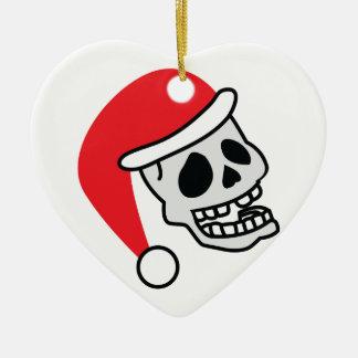 Navidad del esqueleto de Santa Skully Ornato