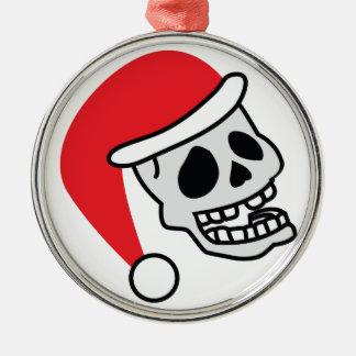Navidad del esqueleto de Santa Skully Ornaments Para Arbol De Navidad
