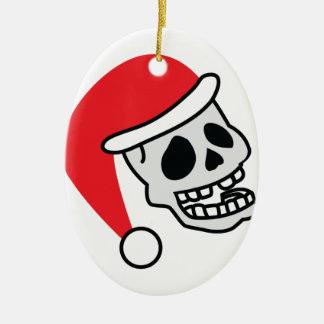 Navidad del esqueleto de Santa Skully Adorno De Navidad