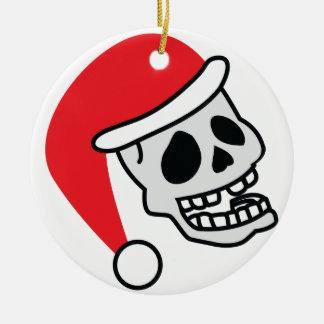 Navidad del esqueleto de Santa Skully Adorno