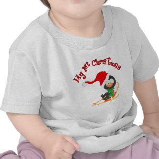 Navidad del esquí del pingüino 1r camiseta