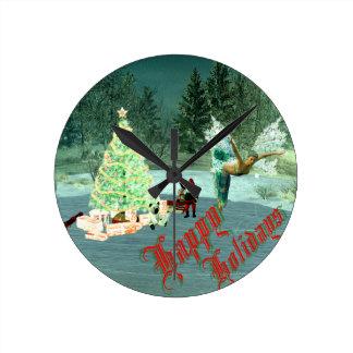 ¡Navidad del Faerie y del gnomo! Relojes
