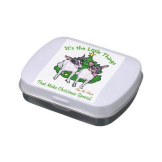 Navidad del fox terrier del juguete latas de dulces