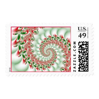 Navidad del fractal sello
