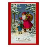 """Navidad del francés del vintage de """"Joyeux Noel"""" Tarjeton"""