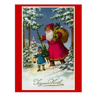 """Navidad del francés del vintage de """"Joyeux Noel"""" Tarjeta Postal"""