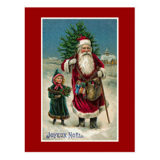 """Navidad del francés del vintage de """"Joyeux Noel"""" Postal"""