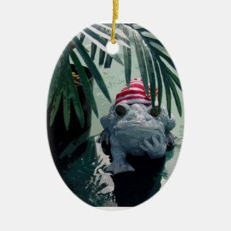 Navidad del Froggy Ornamentos De Reyes
