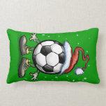 Navidad del fútbol cojines
