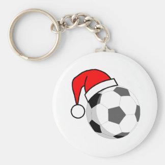 Navidad del fútbol llaveros