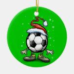 Navidad del fútbol ornamentos de reyes