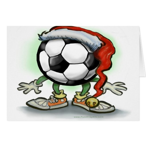 Navidad del fútbol tarjeta de felicitación
