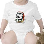 Navidad del fútbol traje de bebé