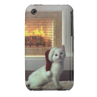 Navidad del gatito carcasa para iPhone 3