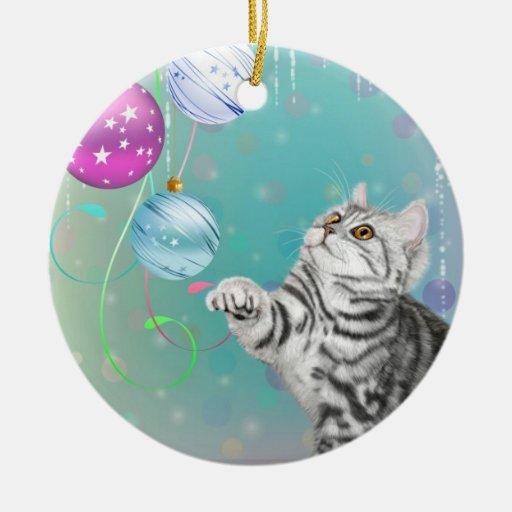 Navidad del gatito ornamento de navidad