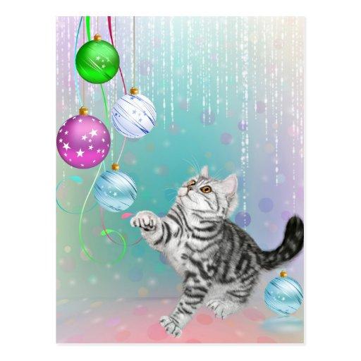 Navidad del gatito postales