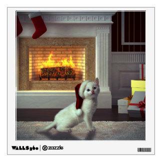 Navidad del gatito vinilo decorativo