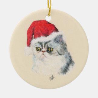 Navidad del gato adorno de navidad