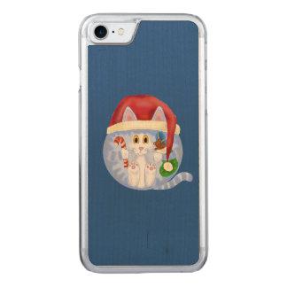 Navidad del gato de la chuchería funda para iPhone 7