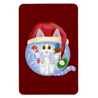 Navidad del gato de la chuchería imanes rectangulares