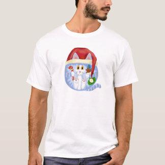 Navidad del gato de la chuchería playera