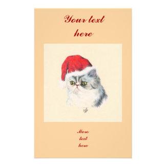 "Navidad del gato folleto 5.5"" x 8.5"""