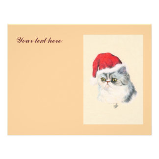 "Navidad del gato folleto 8.5"" x 11"""