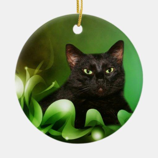 Navidad del gato negro ornamentos para reyes magos
