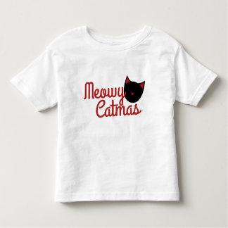 Navidad del gato tee shirts