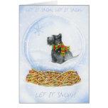 Navidad del globo de la nieve del escocés tarjetas