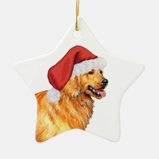 Navidad del golden retriever ornamentos para reyes magos