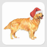 Navidad del golden retriever pegatinas